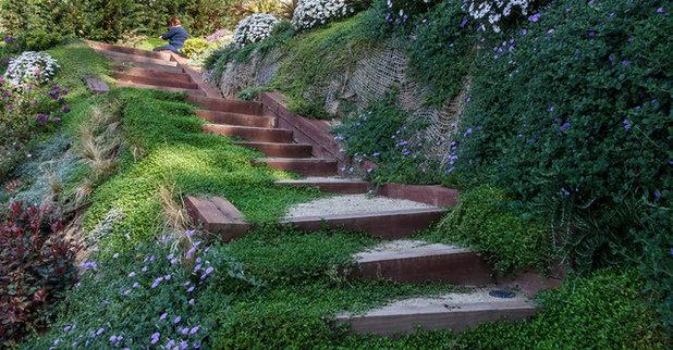 Pregunta al experto 9 formas de contener desniveles en for Jardines en pendiente