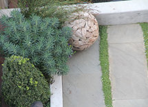 What is the ground cover between the pavement?  Thanks!!!