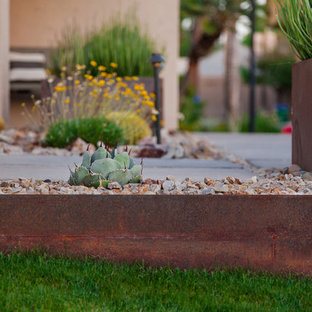 Inspiration for a mid-sized modern full sun front yard landscaping in Phoenix.