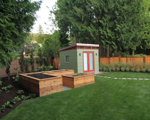 inspiration for a contemporary detached garden shed remodel in vancouver