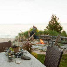 Beach Style Landscape by Mitch Wise Design,Inc.
