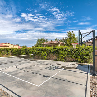 Photo of a large traditional full sun backyard gravel outdoor sport court in Phoenix for summer.