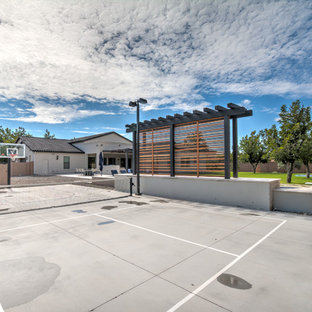 Design ideas for a large traditional full sun backyard gravel outdoor sport court in Phoenix for summer.