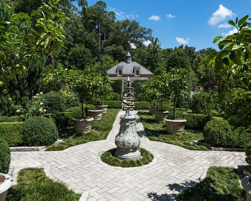 This Is An Example Of A Traditional Backyard Formal Garden In Atlanta.