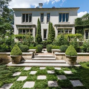 Photo of a traditional stone formal garden in Atlanta.