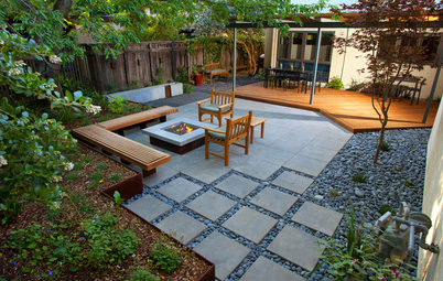 See How 3 Patios Ingeniously Mix Pavers and Pebbles