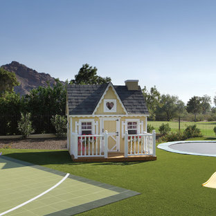 This is an example of a huge mediterranean outdoor playset in Phoenix.