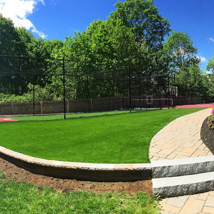 Design ideas for a large traditional backyard outdoor sport court in Boston.