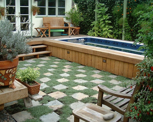 Inspiration For A Contemporary Backyard Landscaping In Los Angeles With  Decking.
