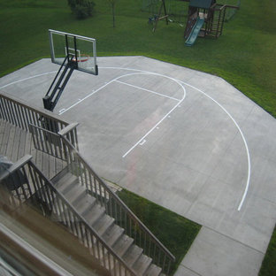 Design ideas for a large traditional full sun backyard outdoor sport court in Minneapolis.