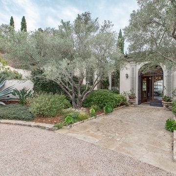 Toro Canyon Tuscan Style Pool and Landscape   Santa Barbara CA