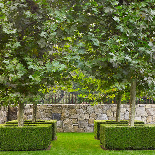This is an example of a traditional formal garden in New York.