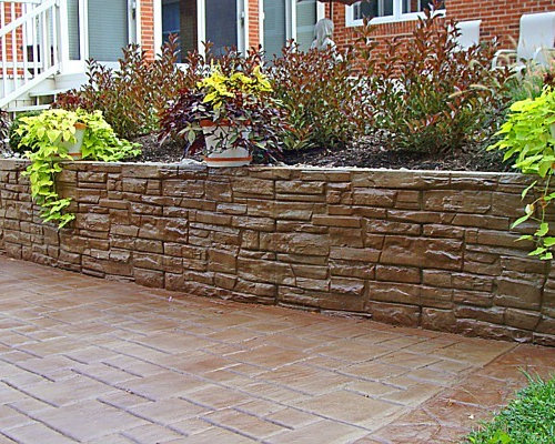 Decorative Concrete Retaining Wall Houzz