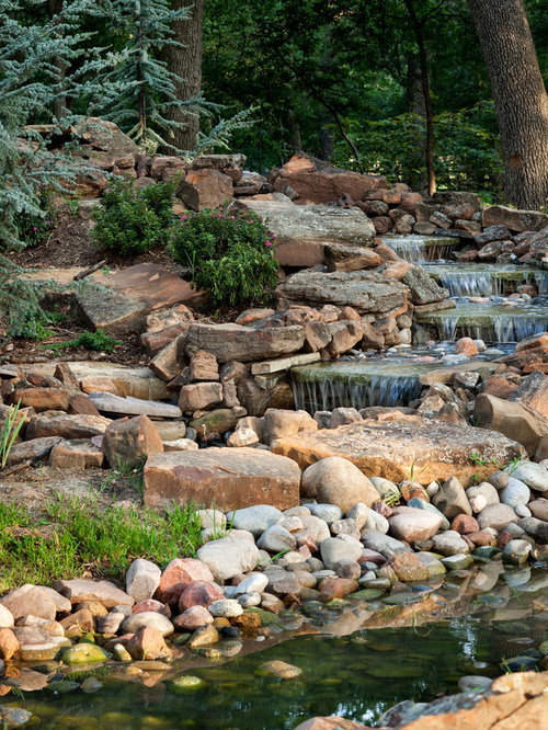 Landscaping waterfall ideas pictures remodel and decor for Plusen landscape architects