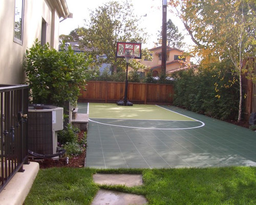 Small basketball court home design ideas pictures for Small basketball court