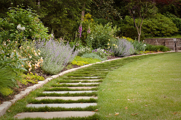 American Traditional Garden Traditional Landscape