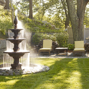 Design ideas for a traditional water fountain landscape in Boston.