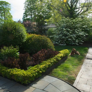 Photo of a small traditional backyard gravel formal garden in Charlotte for spring.