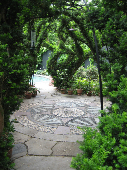 Garden paving ideas houzz for Paving garden designs