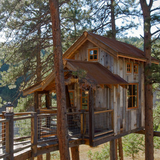 Photo of a rustic outdoor playset in Salt Lake City.