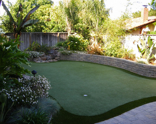 backyard golf course home design ideas pictures remodel and decor