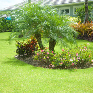 Design ideas for a tropical full sun side yard landscaping in Miami.