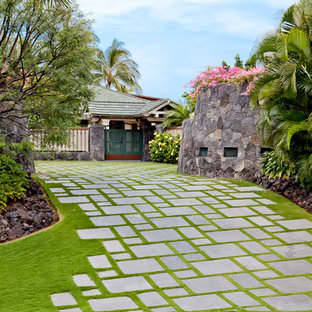 75 Most Popular Tropical Driveway Design Ideas for 2019 - Stylish
