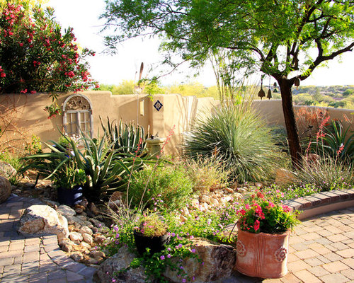 Desert Landscape Design Ideas landscaping idea This Is An Example Of A Mediterranean Backyard Landscape In Phoenix With A Water Feature