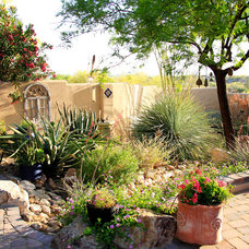 Mediterranean Landscape by Santa Rita Landscaping, Inc.