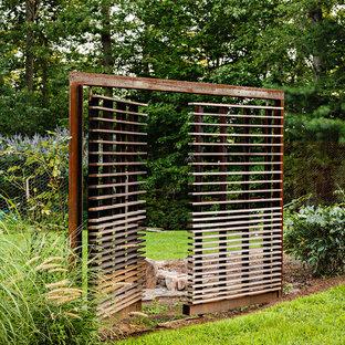 Inspiration för industriella trädgårdar, med en trädgårdsgång