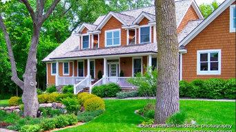 Twin Cities Suburban Farmhouse - Front Gardens.  Minnesota Landscape Design.