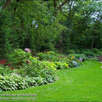 Twin Cities Suburban Farmhouse - Glade Gardens.  Minnesota Garden Design.