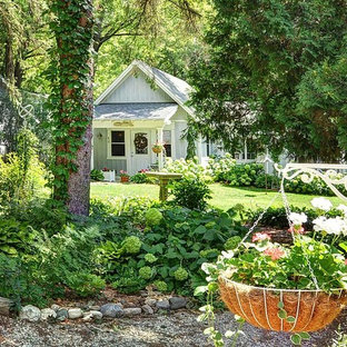 This Is An Example Of A Small Beach Style Shade Backyard Mulch Formal Garden In Milwaukee