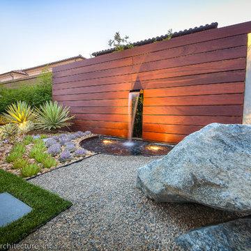 Unique Modern Water Feature & Garden Light Design