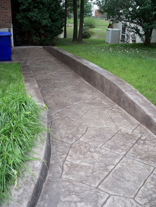Concrete Wheelchair Ramp Home Design Ideas, Pictures