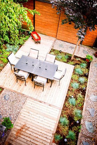 Urbain urban jardin de cour court garden for Jardin urbain