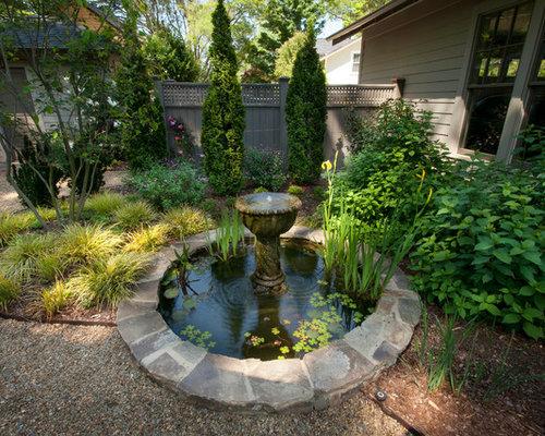 Circular pond houzz for Circular garden ponds