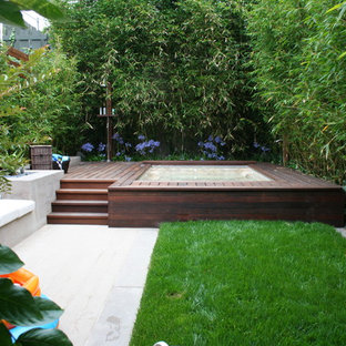 Inspiration for a contemporary backyard landscaping in San Francisco.