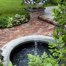 Traditional Landscape Urban Retreat- Fountain
