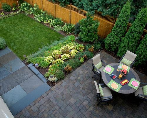design ideas for a traditional backyard stone vegetable garden landscape in minneapolis