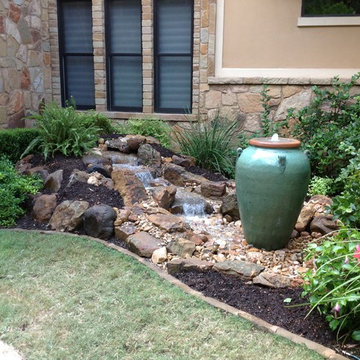 Urn and Fountain Water Feature Ideas for your Austin, Central TX Landscape