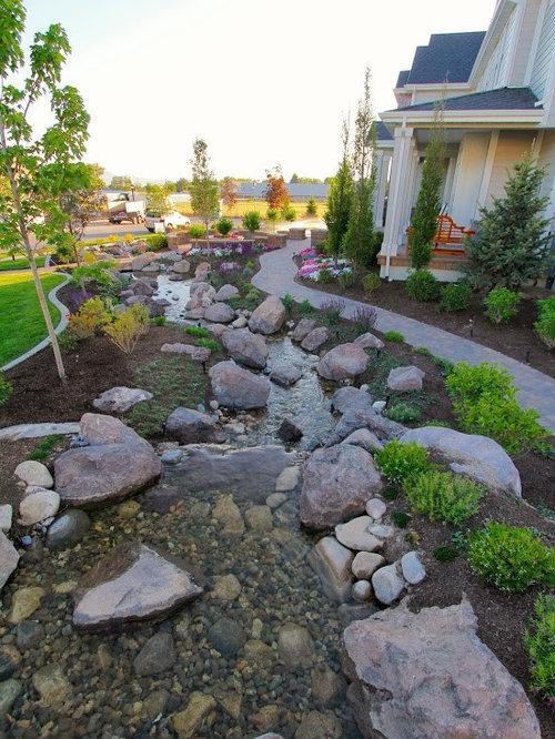 Jardin campagne avec un point d 39 eau photos et id es d co de jardins - Deco jardin campagne ...