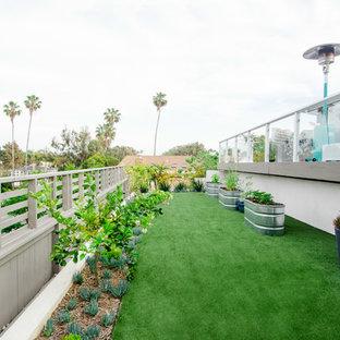 Idéer för en modern bakgård i full sol som tål torka, med en köksträdgård
