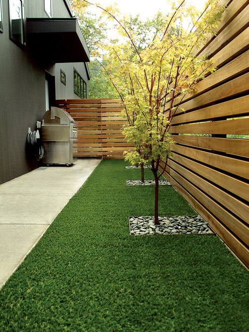 Design Ideas For A Contemporary Side Yard Landscaping In Portland.