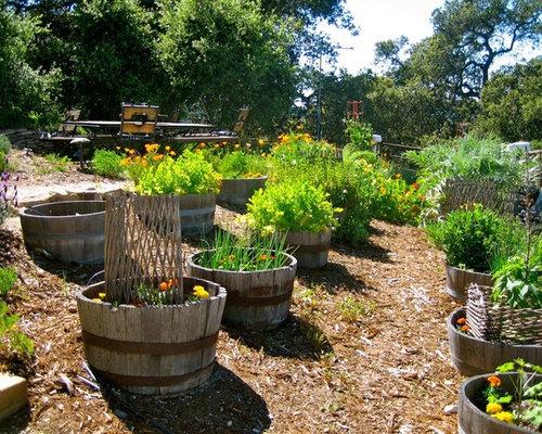 Wine Barrel Mailbox Planter Houzz