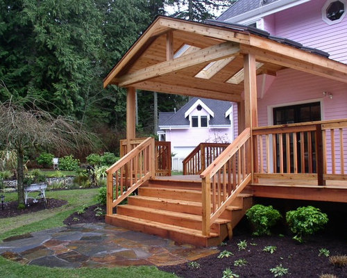 Rustic covered patio home design ideas pictures remodel for Rustic covered decks