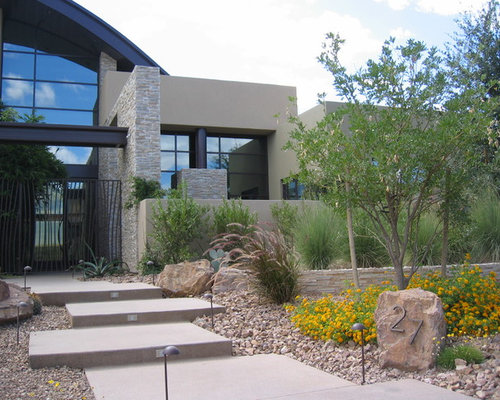 inspiration for a modern front yard landscaping in las vegas