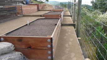 Vegetable boxes on hill side