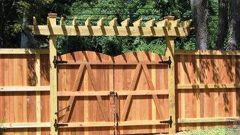 Vertical Board w/ Cap Board (Wood Privacy Fence)