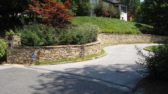 Vestavia Hills stone retaining walls